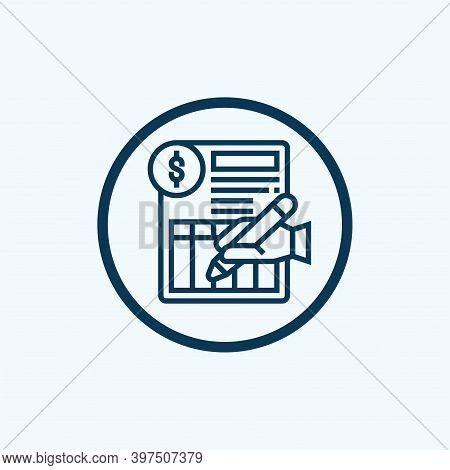 Bank Statement Icon Isolated On White Background From Finance And Business Collection. Bank Statemen