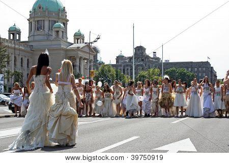Hochzeit-Rennen