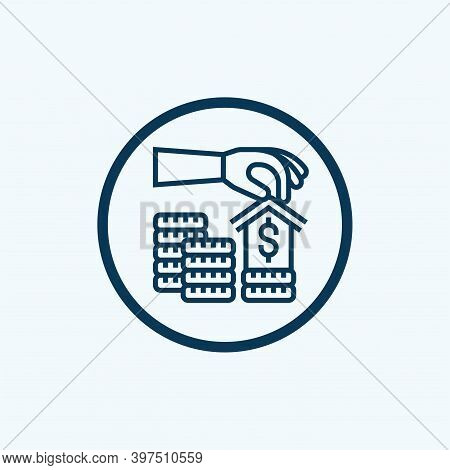 Bank Icon Isolated On White Background From Banking And Finance Collection. Bank Icon Trendy And Mod