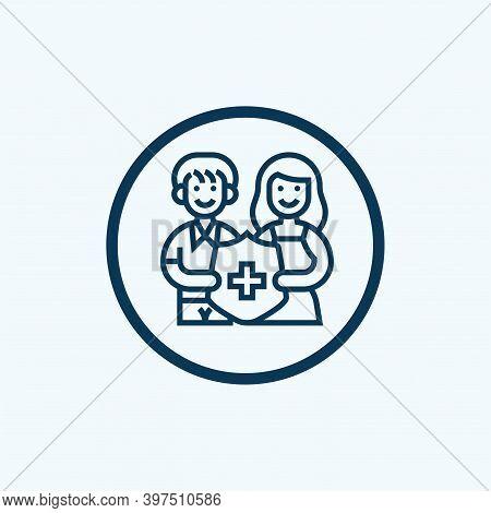 Life Insurance Icon Isolated On White Background From Insurance Collection. Life Insurance Icon Tren