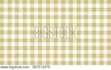 Beige White Yellow Brown Vintage Checkered Background. Space For Graphic Design. Checkered Texture.