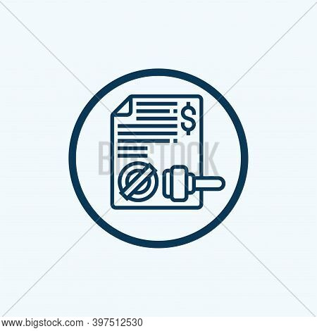 Stamp Icon Isolated On White Background From Office Collection. Stamp Icon Trendy And Modern Stamp S