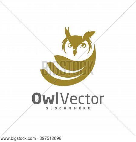 Owl Logo Vector Template, Creative Owl Logo Design Concepts