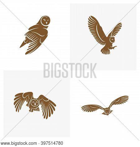 Set Of Owl Logo Vector Template, Creative Owl Logo Design Concepts, Illustration