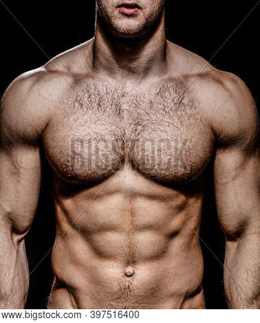 Beautiful Male Torso, Muscular Male, Fitness. Strong Muscular. Sport Man, Bodybuilding, Sexy Strong