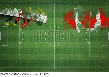 Brunei Vs Canada Soccer Match, National Colors, National Flags, Soccer Field, Football Game, Competi