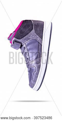 Fashion Sneaker Shoes Isolated On White Background.