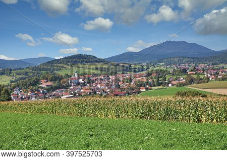 Village Of Lam In Lamer Winkel,bavarian Forest,germany