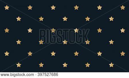 Seamless glittery gold stars background design resource