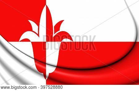 3d Flag Of Bernheze (north Brabant), Netherlands. 3d Illustration.