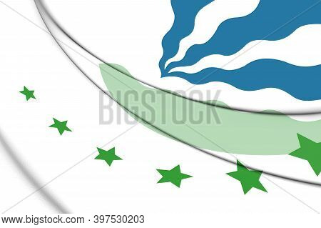 3d Flag Of Drimmelen (north Brabant), Netherlands. 3d Illustration.