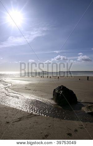 Beach Breakers And Rocks