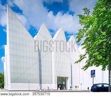 Szczecin, Poland, June 2019 Mieczyslaw Karlowicz Philharmonic Orchestra Founded In 1948. Contemporar