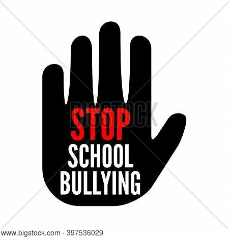 Stop School Bullying Symbol Icon With A White Background
