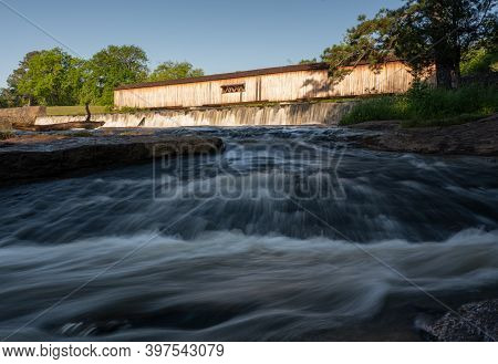 The Shoals At Watson Mill State Park In Northeast Georgia