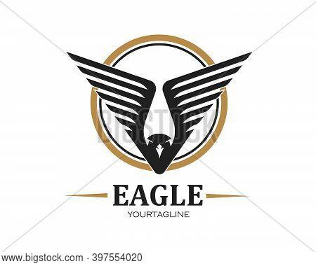 Falcon,eagle Logo Icon Vector Illustration Design