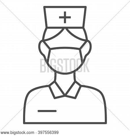 Nurse Thin Line Icon, International Dentist Day Concept, Female Dentist Sign On White Background, Nu
