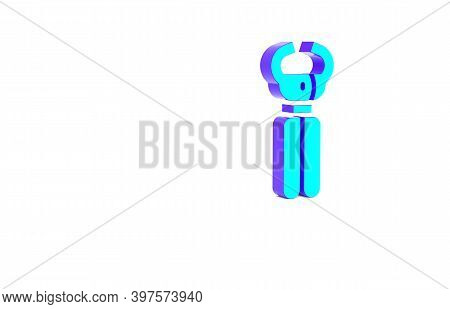 Turquoise Clippers For Grooming Pets Icon Isolated On White Background. Pet Nail Clippers. Minimalis