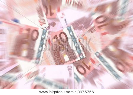 10 Euro Notes Texture Radial Blur