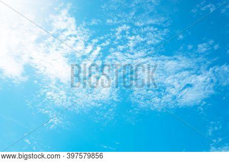 Beautiful Blue Sky Clouds For Background. Beautiful Blue Sky.