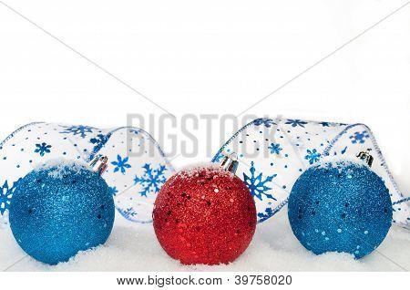 Ribbon And Ornaments