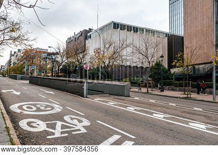 Madrid, Spain - November 28, 2020: El Corte Ingles Of Serrano Street In Salamanca District. It Is We