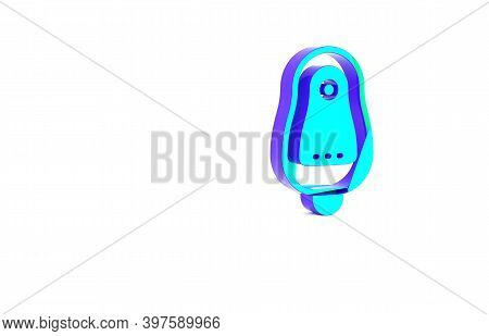 Turquoise Toilet Urinal Or Pissoir Icon Isolated On White Background. Urinal In Male Toilet. Washroo