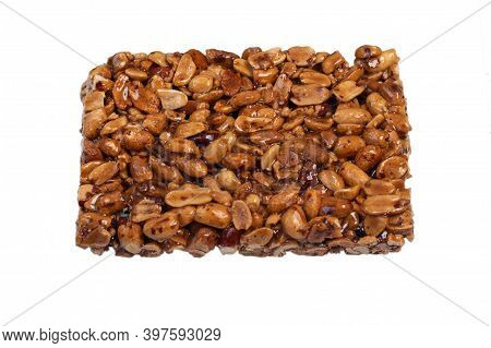 Homemade Kozinaki Made From Peanuts On White Background