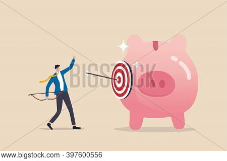 Financial Goals, Investment Target, Setting Objective For Retirement Plan Success Concept, Smart Bus