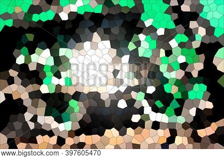 Random Colour And Shape Illustration Made Of Fragmented Sections