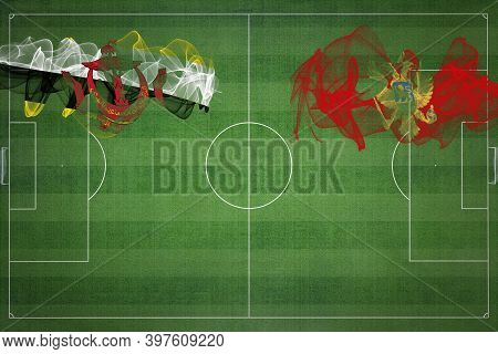 Brunei Vs Montenegro Soccer Match, National Colors, National Flags, Soccer Field, Football Game, Com