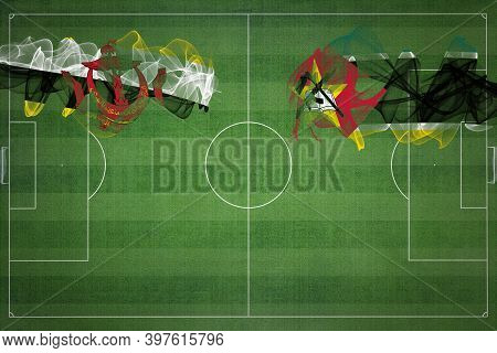 Brunei Vs Mozambique Soccer Match, National Colors, National Flags, Soccer Field, Football Game, Com