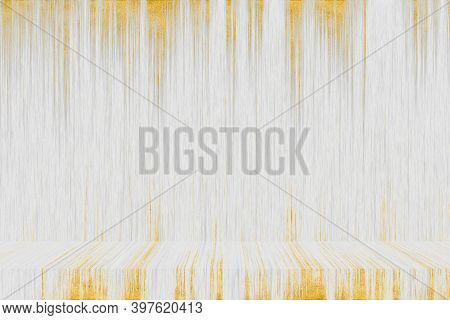 Abstract Gray Gold Line And White Wood Texture Art Interior Background