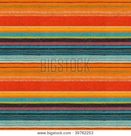 Textile Detail Seamless Background with Mexican Color poster