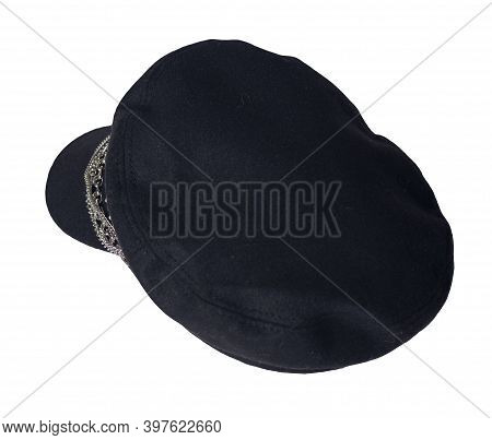 Fashion Hat With Visor Isolated On White Background.cap Female. Colored Hat .