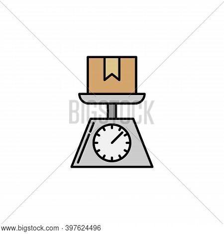 Weighing Parcel Scales. Signs And Symbols Can Be Used For Web, Logo, Mobile App, Ui, Ux