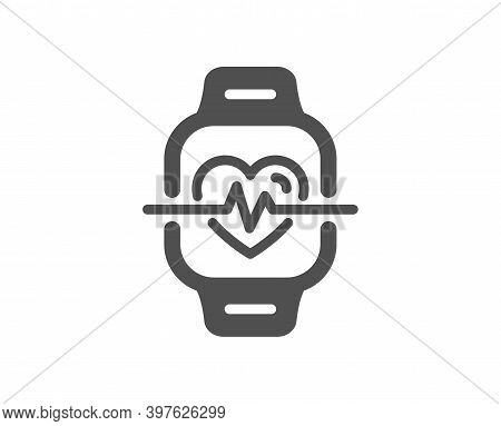 Cardio Training Icon. Fitness Watch Workout Sign. Gym Fit Heartbeat Symbol. Quality Design Element.