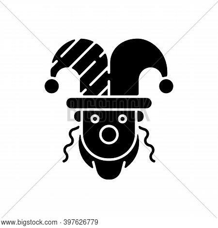 Purim Celebration Black Glyph Icon. Jewish Festival Commemorating. Dressing Up To Synagogue. Carniva