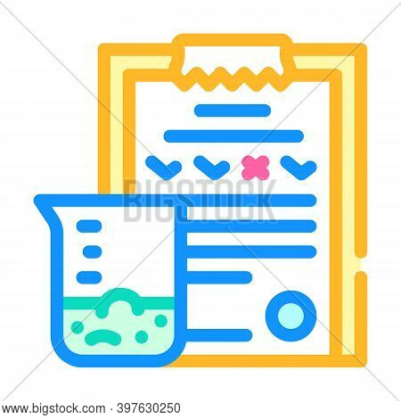 Soil Analysis Color Icon Vector Illustration Flat