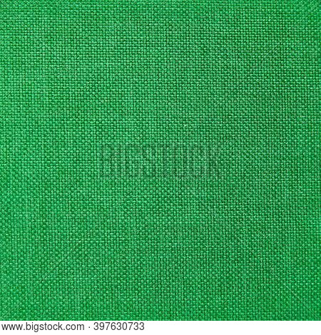 Fabric Texture Green Color For Background Or Design