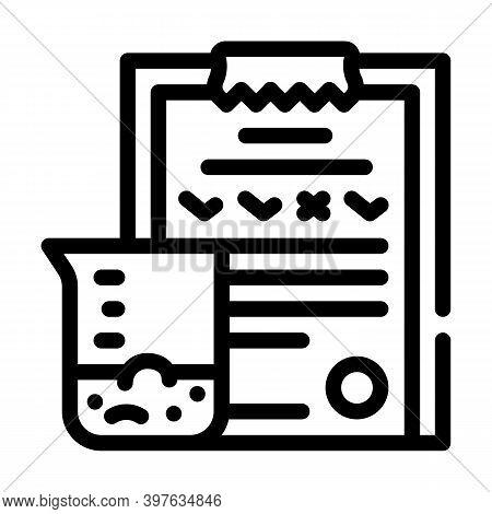 Soil Analysis Line Icon Vector Illustration Black