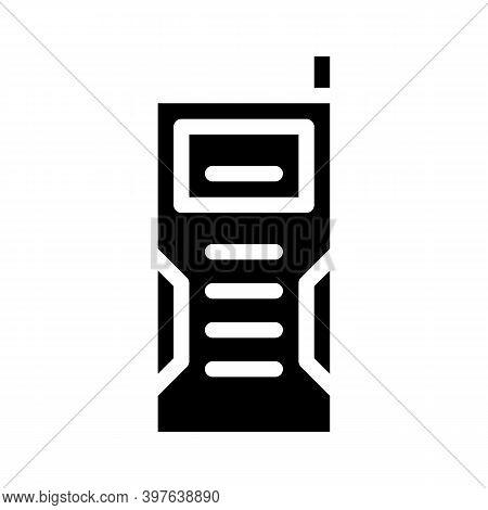 Laser Rangefinder Device Glyph Icon Vector Illustration