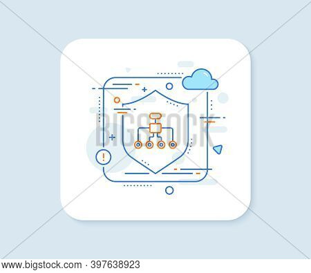 Restructuring Line Icon. Abstract Vector Button. Business Architecture Sign. Delegate Symbol. Restru