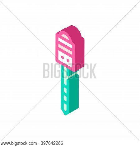 Marking Peg Stick Isometric Icon Vector Illustration