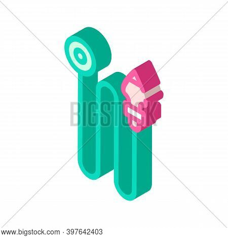 Leveling Weight Isometric Icon Vector Illustration Color