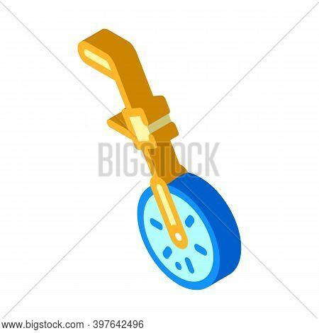 Odometry Equipment Isometric Icon Vector Illustration Color