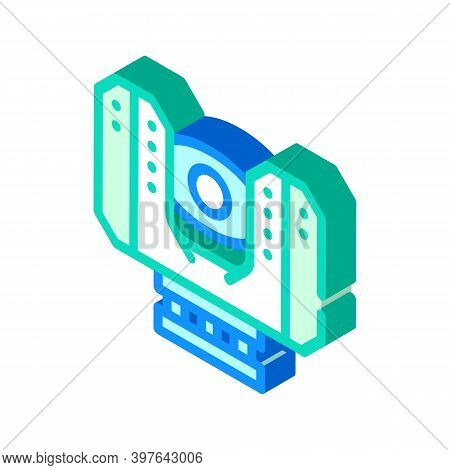 Laser Scanner Device Isometric Icon Vector Illustration