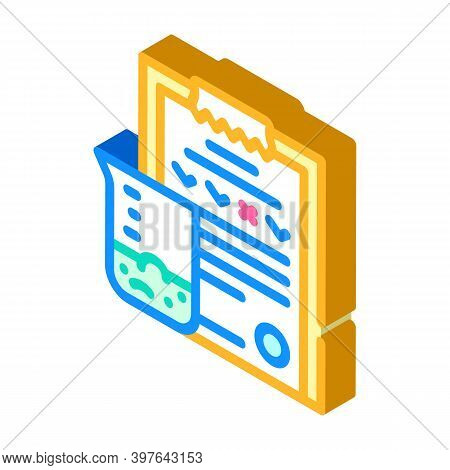 Soil Analysis Isometric Icon Vector Illustration Color