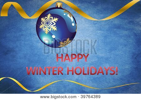 Happy winter holidays card, wallpaper, background