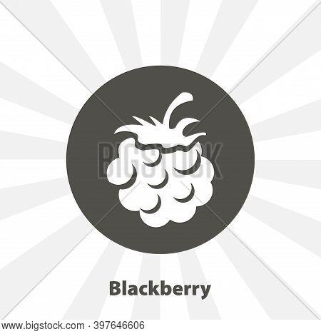 Blackberry Isolated Vector Icon. Fruit Design Element